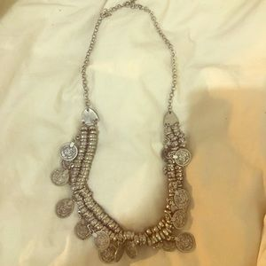 Anthropologie charm silver necklace